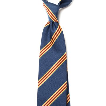 Repp Stripe Wool/Silk Tie