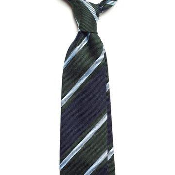 Repp stripe wool tie