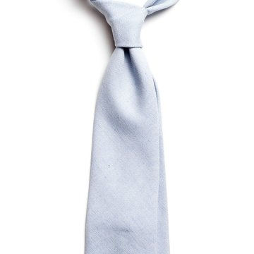 Solid cotton tie - Light Blue