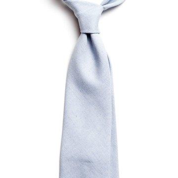 Solid cotton tie - Light Blue