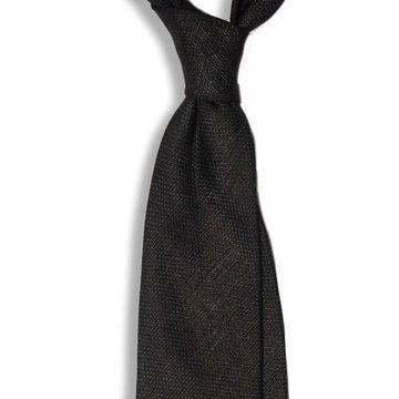 Solid Linen Tie - Navy