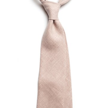 Solid linen tie - Oatmeal