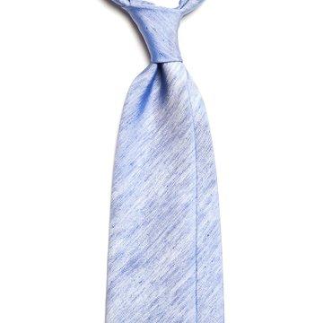 Solid silk tie - blue