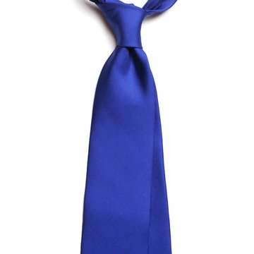 Solid silk tie - electric blue