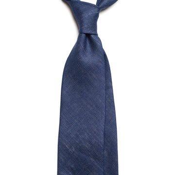 Solid silk tie - navy