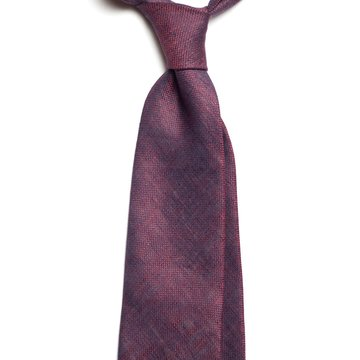 Solid silk tie - purple