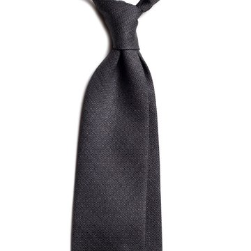 Solid wool tie - grey