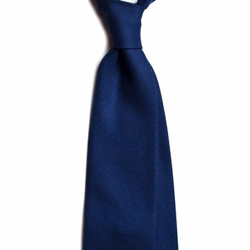 Solid wool tie - navy