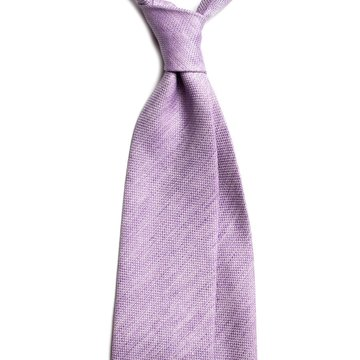 Solid wool tie - purple