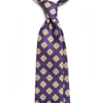 Vintage Medallion Linen Tie