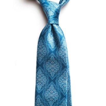Vintage medallion silk tie