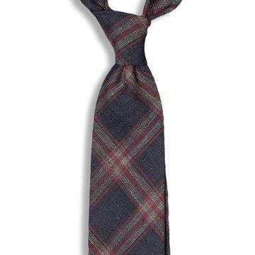 Windowpane Linen Tie