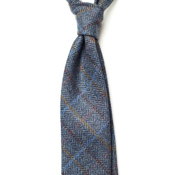 Windowpane Wool Tie