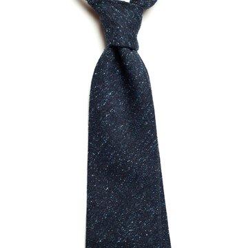Cravata lana donegal bleumarin