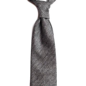 Cravata lana model herringbone