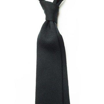 Cravata lana tricotata neagra