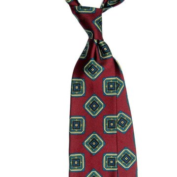 Cravata matase Ancient Madder