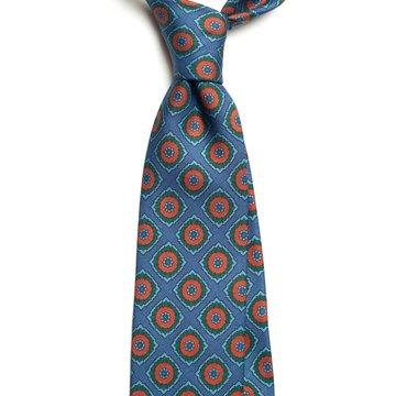 Cravata matase model vintage medallion