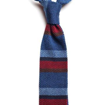 Cravata matase tricotata cu dungi