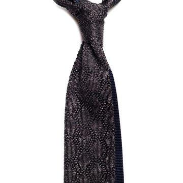 Cravata matase tricotata cu model geometric