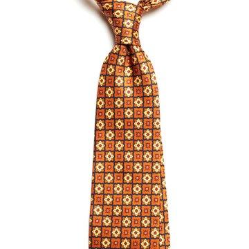 Cravata matase vintage medallion