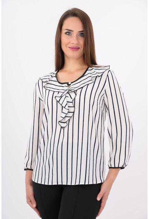 Bluza alba cu dungi negre