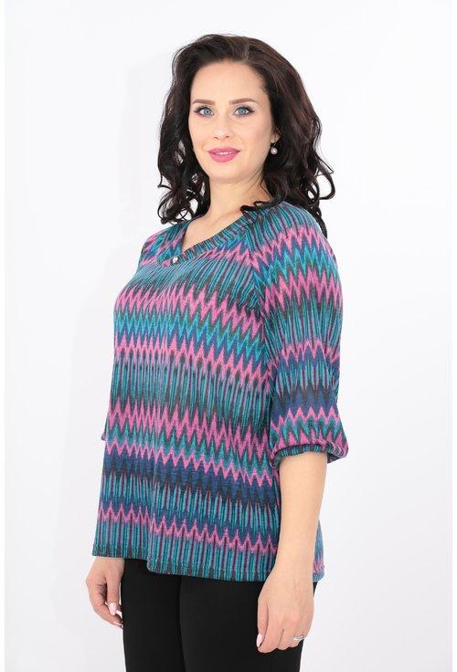 Bluza cu imprimeu in zig-zag