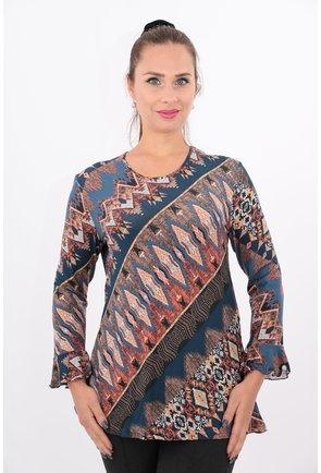 Bluza din tricot cu imprimeu albastru