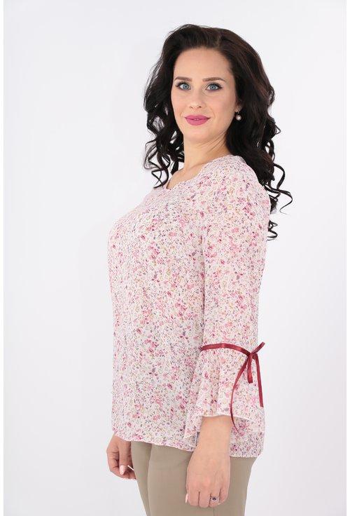 Bluza din voal roz