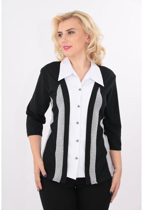 Bluza neagra cu aspect de sacou