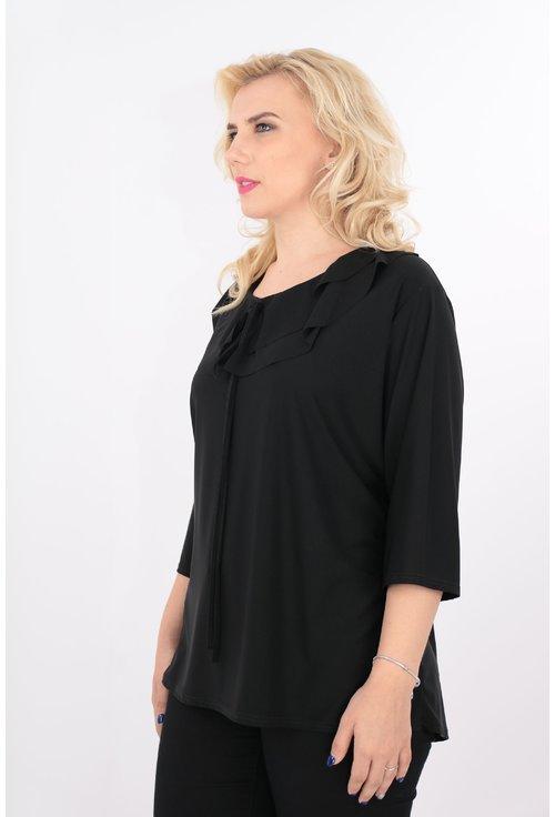 Bluza neagra cu volane