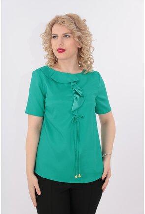 Bluza verde cu maneca scurta