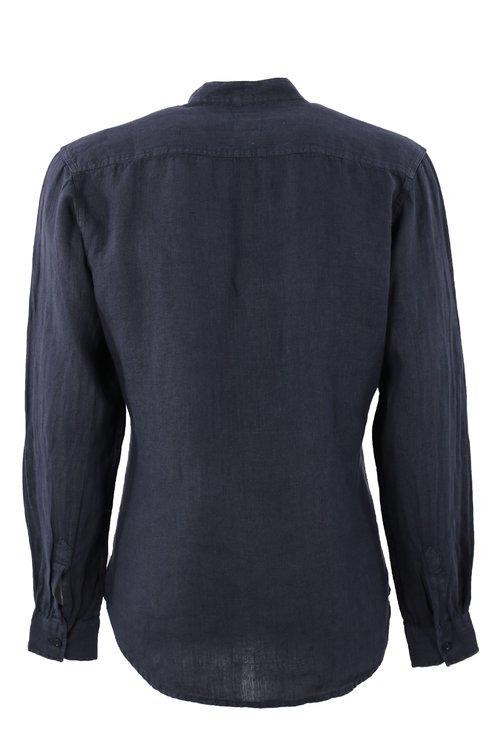 Camasa bleumarin cu guler tunica