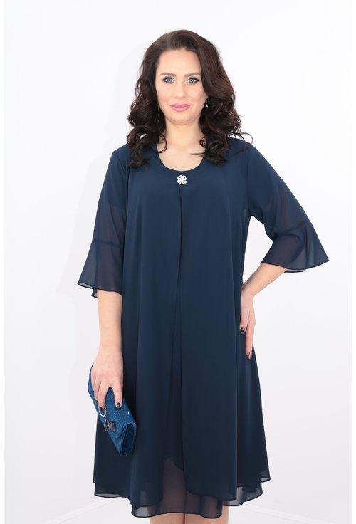 Compleu bleumarin rochie si blazer