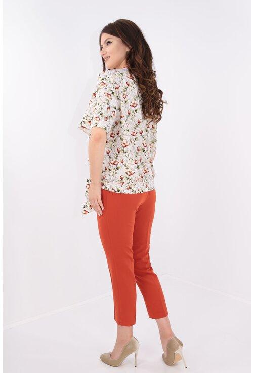 Costum elegant bluza si pantaloni caramizii