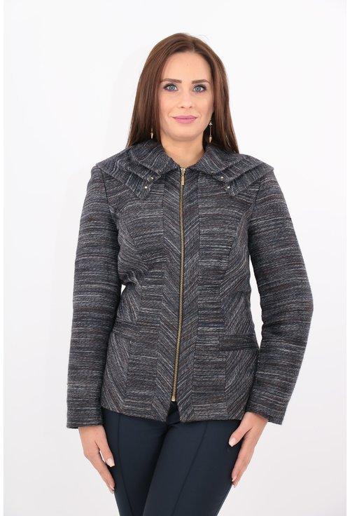 Jacheta din stofa cu dungi gri