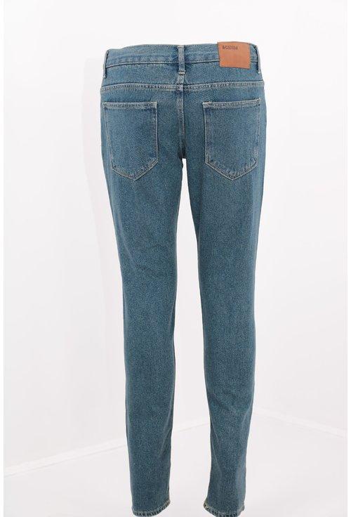 Jeans albastri vintage slim fit