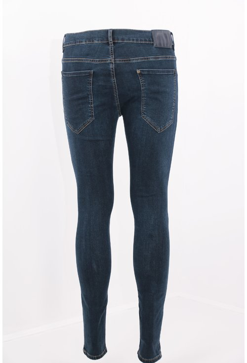 Jeans bleumarin subtiri skinny fit