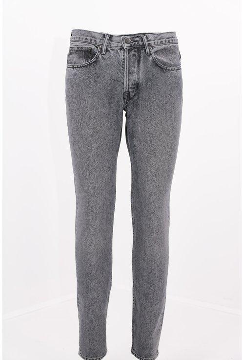 Jeans gri slim fit decolorati
