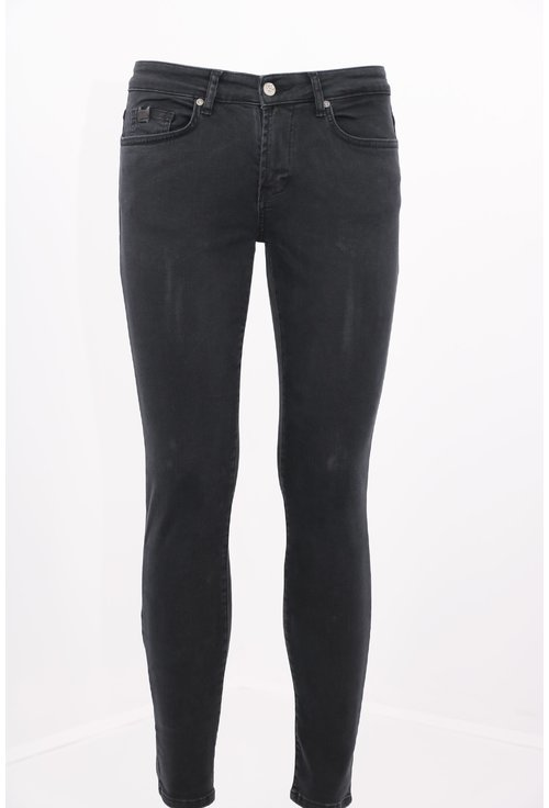 Jeans negri subtiri skinny fit