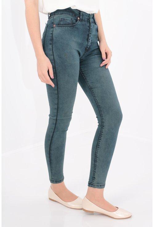 Jeans skinny fit decolorat