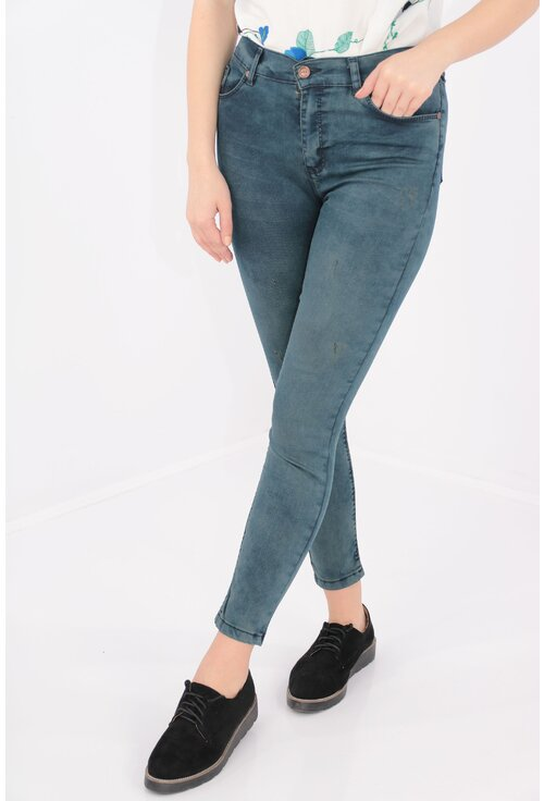 Jeans skinny fit decolorat