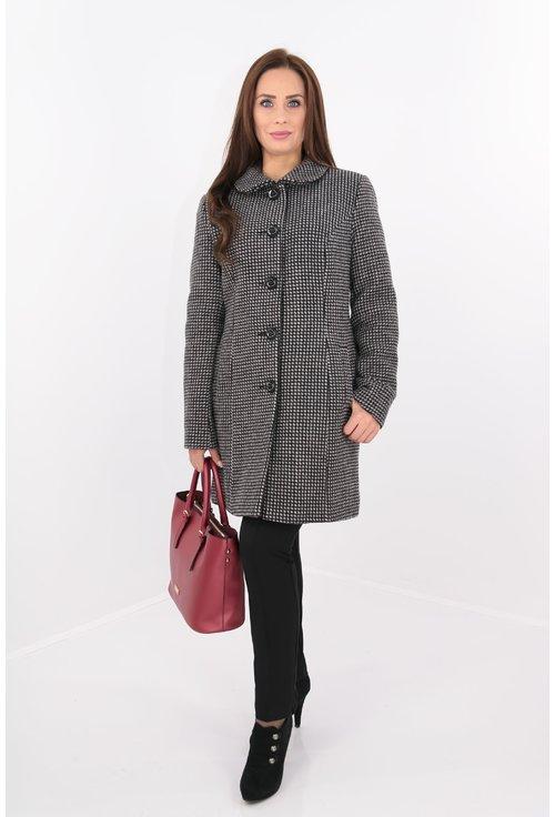 Palton din stofa groasa in carouri