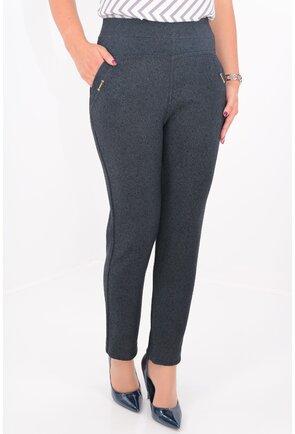 Pantaloni conici bleumarin cu buzunare
