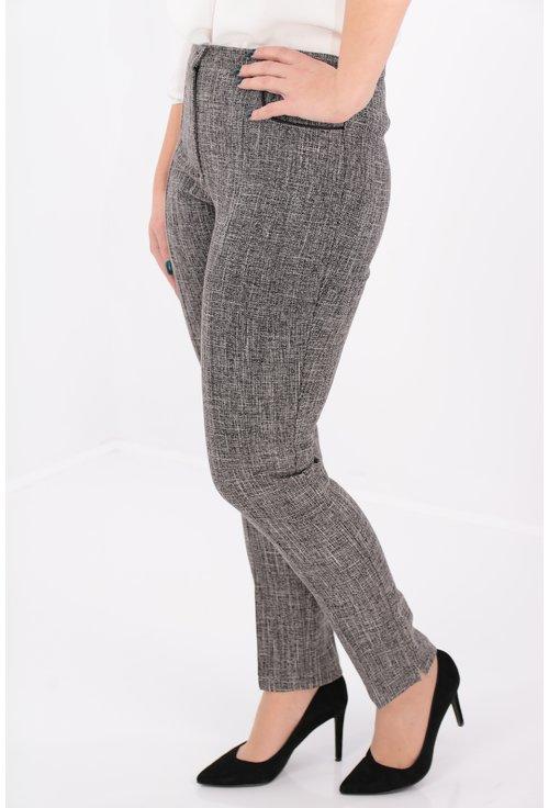 Pantaloni conici din stofa pepit