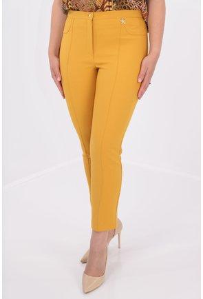 Pantaloni conici mustar