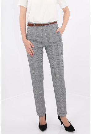 Pantaloni in carouri cu manseta