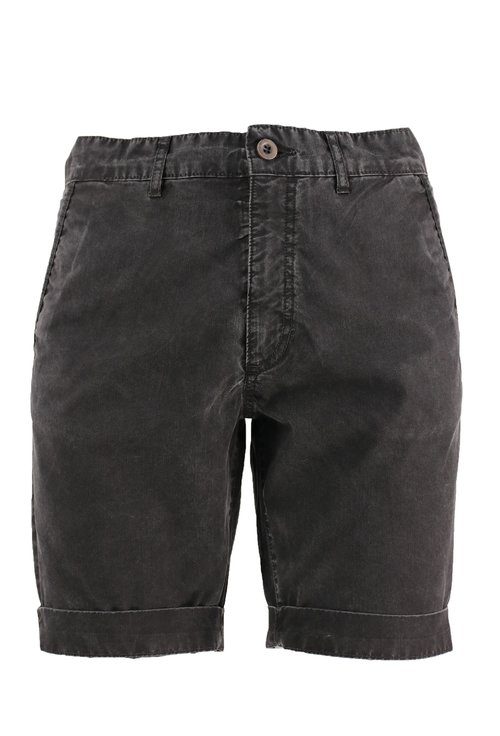 Pantaloni scurti negri decolorati