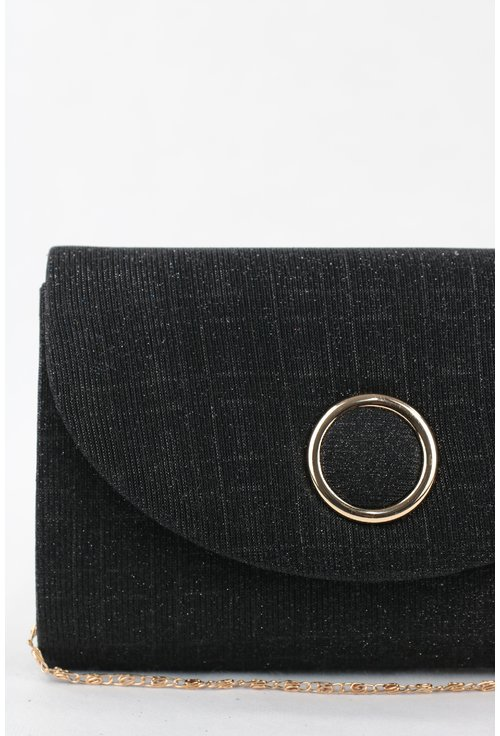 Plic elegant negru cu sclipici