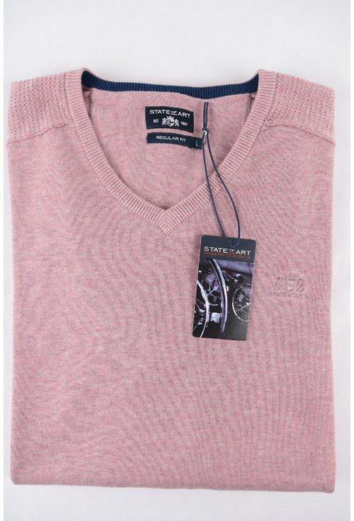 Pulover roz prafuit cu anchior